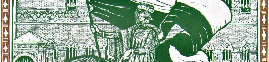 locandina storica del palio di siena