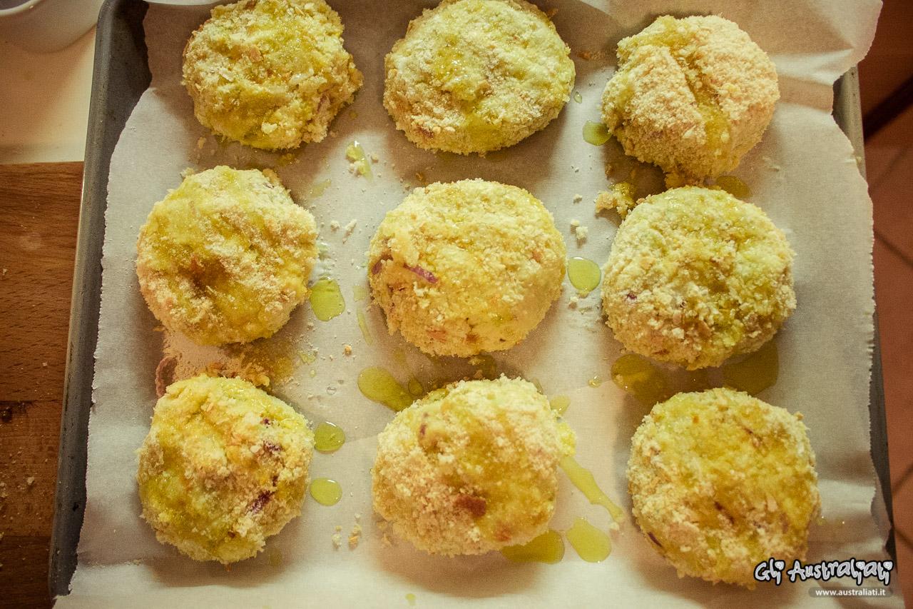 Polpette al forno di zucchine con cuore di fontina valdostana