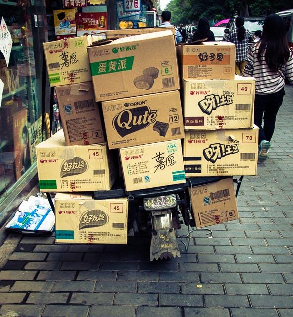 Un carico speciale sullo scooter