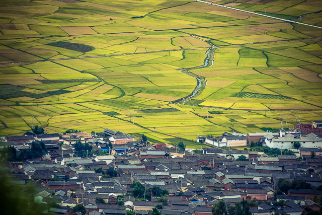 La verdissima e coltivata valle di Shaxi