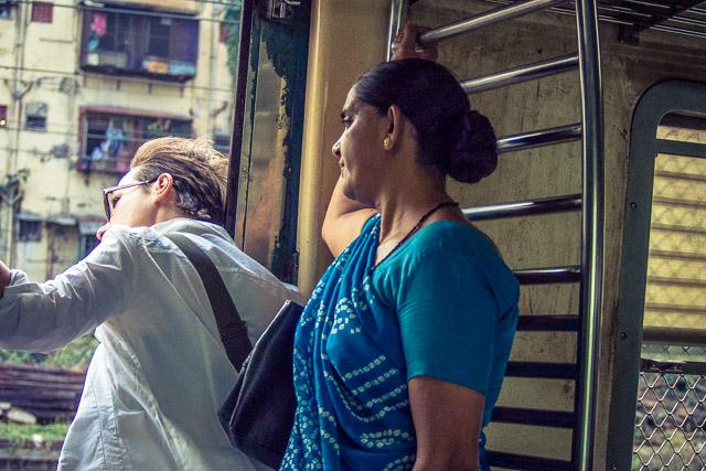 in treno verso Dharavi