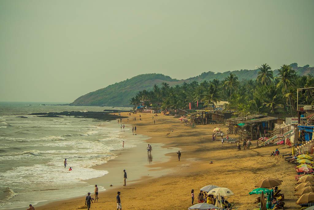 La spiaggia di Anjuna