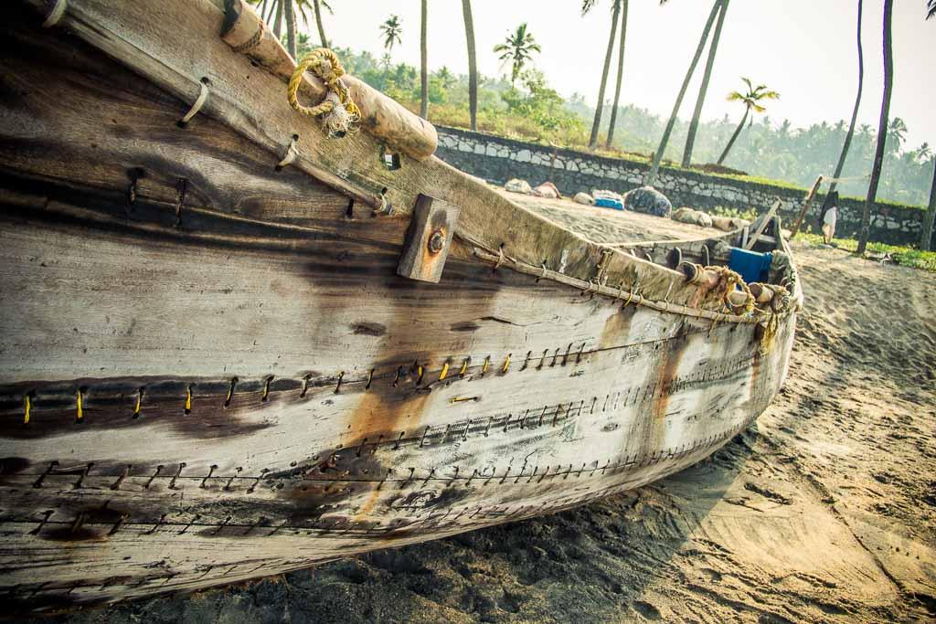 Varkala - Le barche dei pescatori